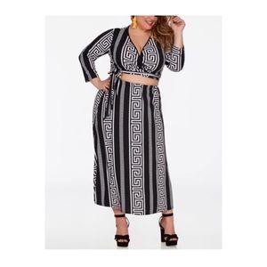 Ashley Stewart Print Maxi Skirt Plus Size 14/16 1X